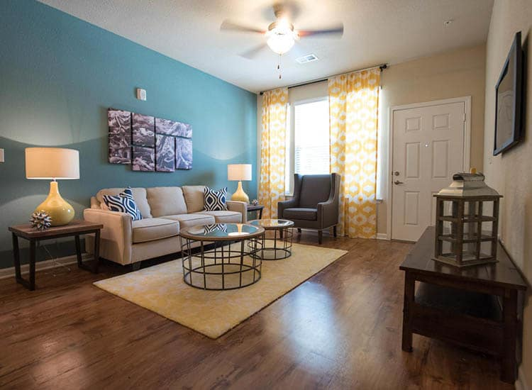 Living Room Area At Springs at Cottonwood Creek Apartments