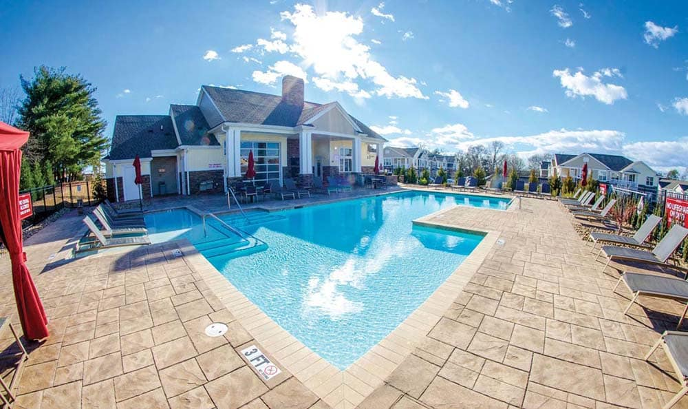 Beautiful community pool at Springs at Cottonwood Creek Apartments