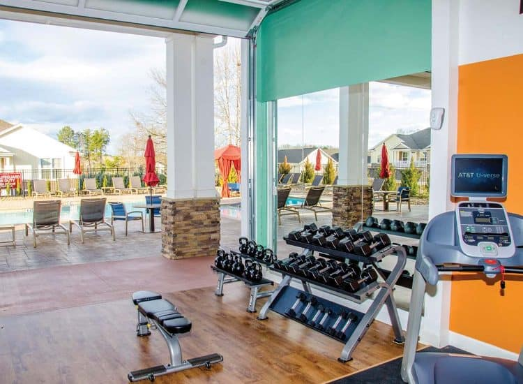 Fitness center at Springs at Allison Valley in Colorado Springs, CO