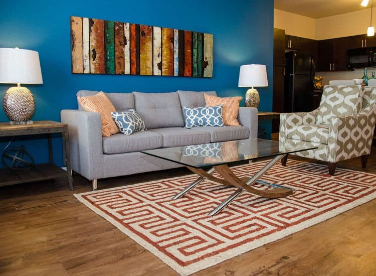 Well designed living room at Springs at Allison Valley in Colorado Springs, CO
