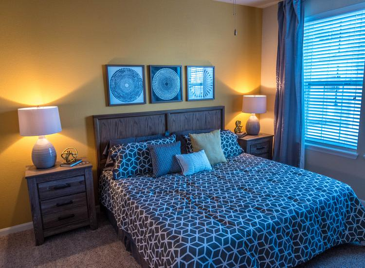 well decorated bedroom at Springs at Apple Valley in Apple Valley, MN