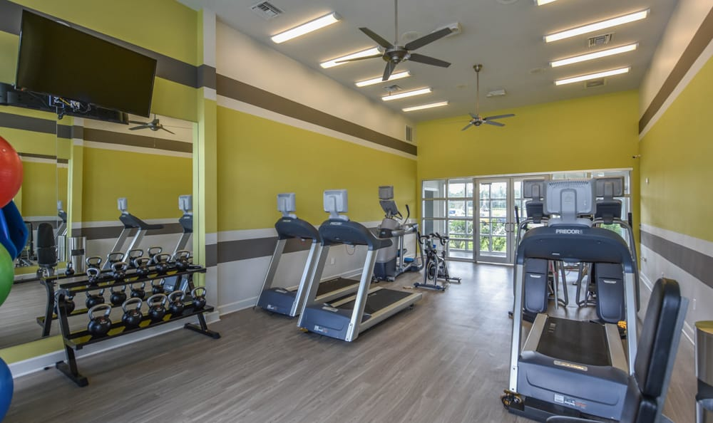 Gorgeous fitness center at Springs at Bee Ridge in Sarasota