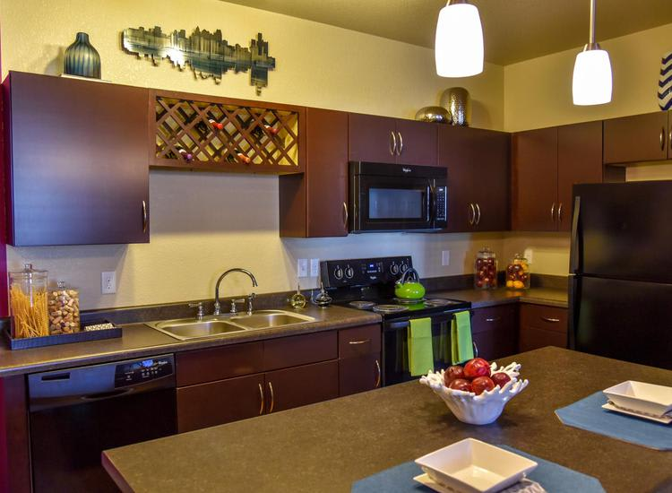 fully equipped kitchen at Springs at Egan Drive in Savage, MN