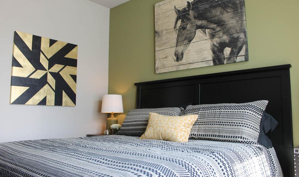 Beautiful master bedroom at Springs at Hurstbourne in Louisville, KY