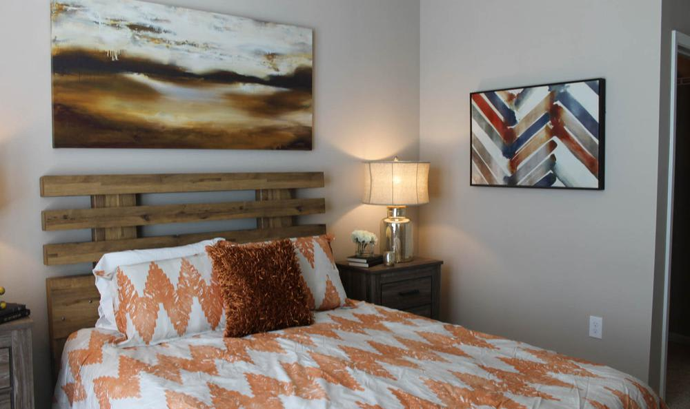 Well decorated bedroom at Springs at Hurstbourne in Louisville, KY
