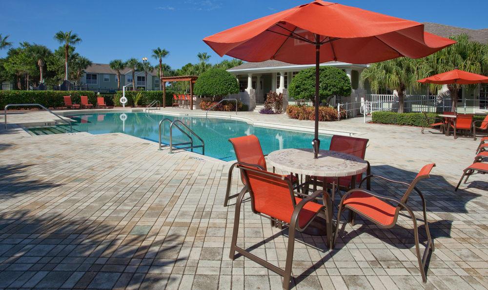 Resort-style swimming pool at Springs at Palma Sola