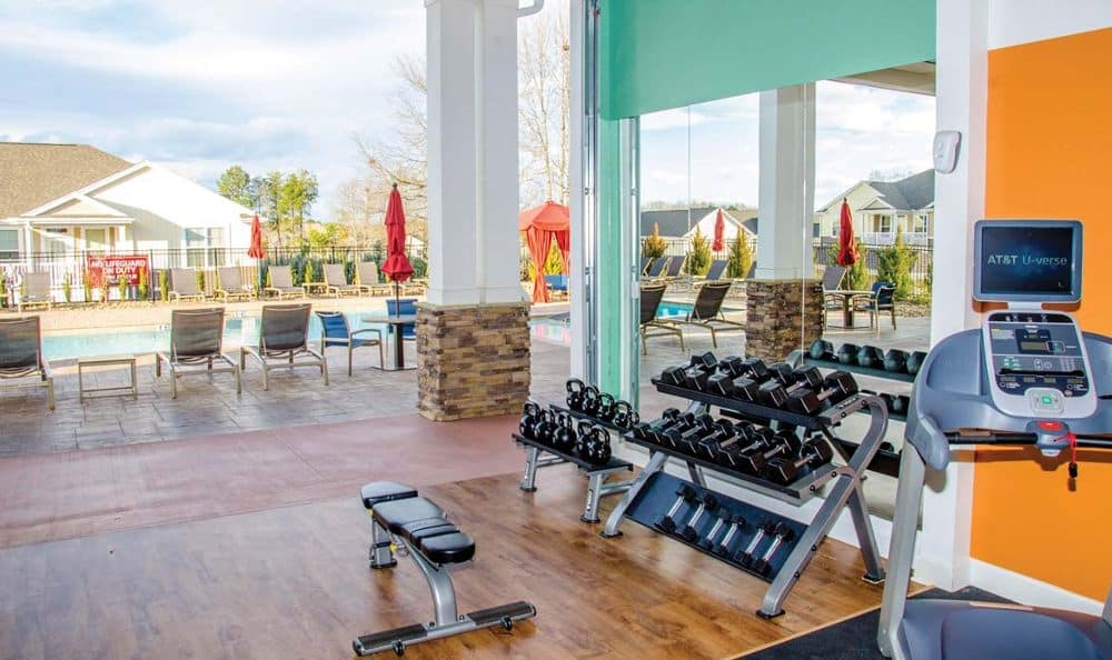 Fitness center at Springs at Sandstone Ranch in Longmont
