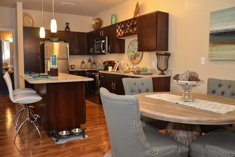 Springs at Sandstone Ranch updated kitchen and gorgeous dining area