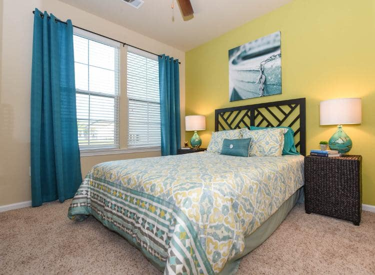 Well decorated bedroom at Springs at University Drive in Bryan