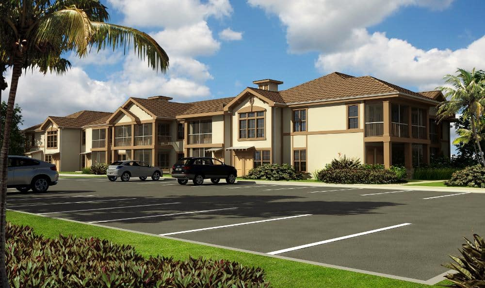Front view of apartment at Springs at Gulf Coast in Estero