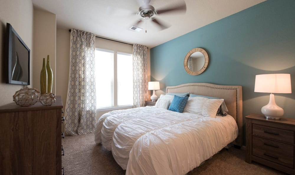 Spacious bedroom at
