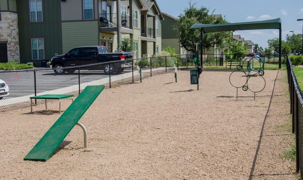 Pet playground at Springs at Lakeline