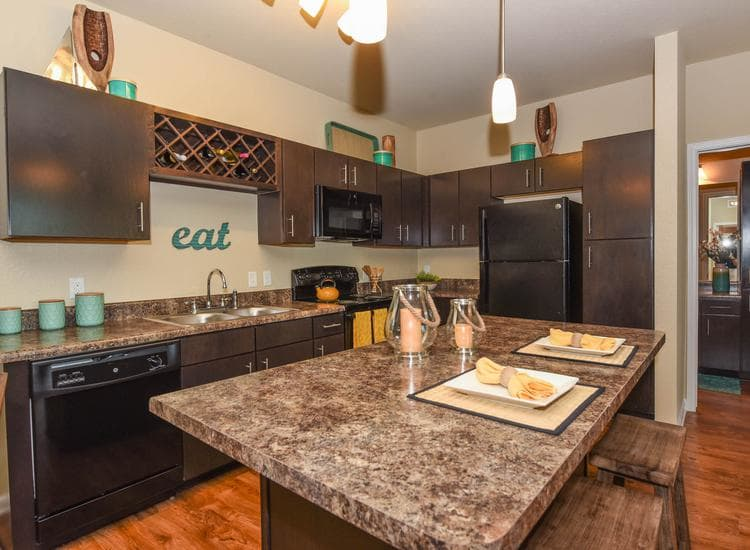 Fully equipped kitchen at Springs at McDonough in McDonough, GA