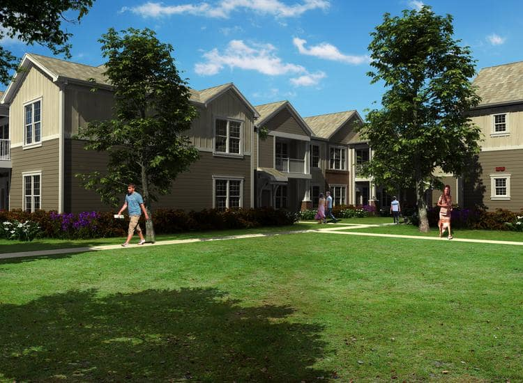 Neighborhood courtyard at Springs at McDonough in McDonough, GA