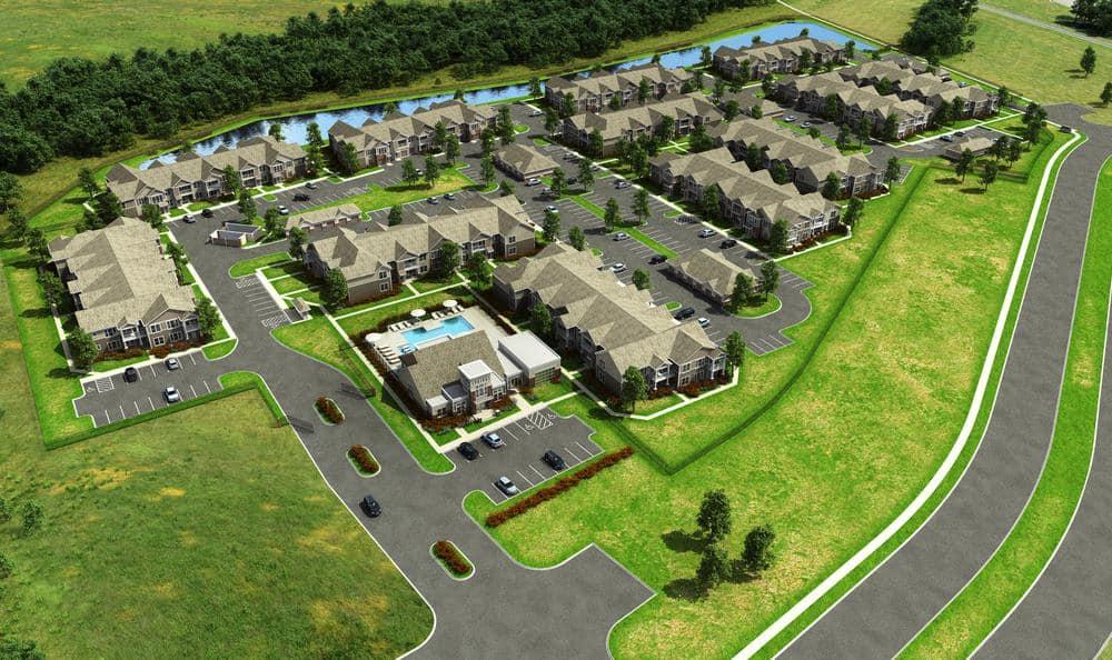 neighborhood areal view at Springs at McDonough in McDonough, GA