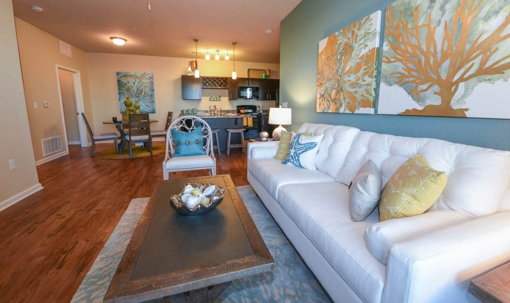 Spacious living room at Springs at Six Mile Cypress