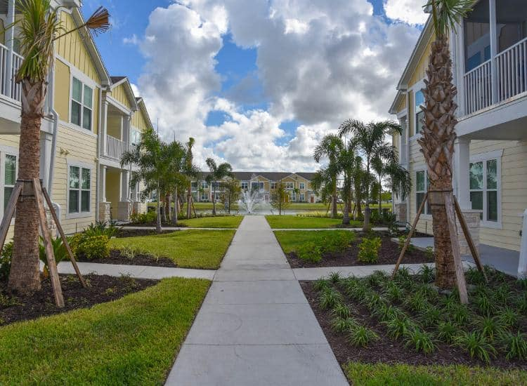 Exterior of apartment buildings at Springs at Six Mile Cypress in Fort Myers