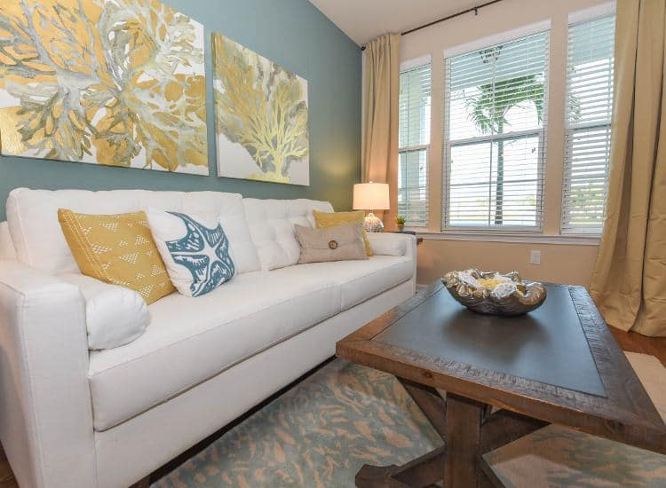 Spacious living room at Springs at Six Mile Cypress in Fort Myers