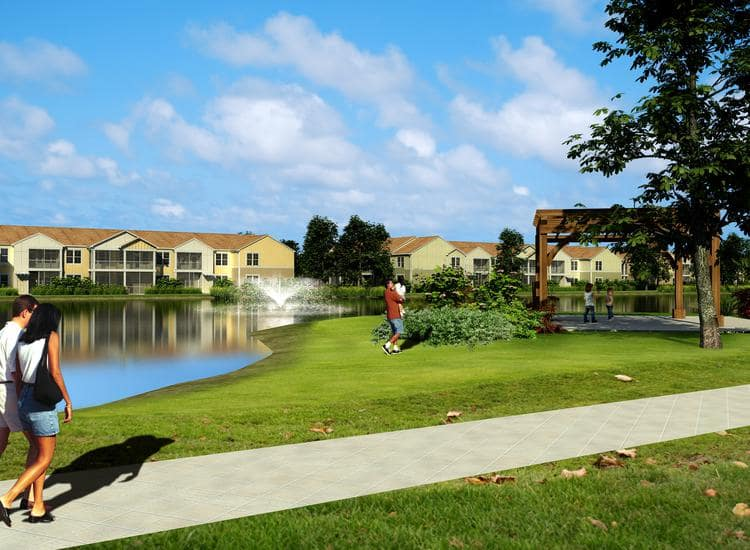 walking path through park at Springs at Tapestry in Kissimmee, FL
