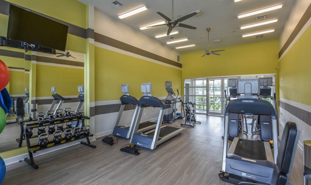 Fitness center at Springs at Juban Crossing in Denham Springs