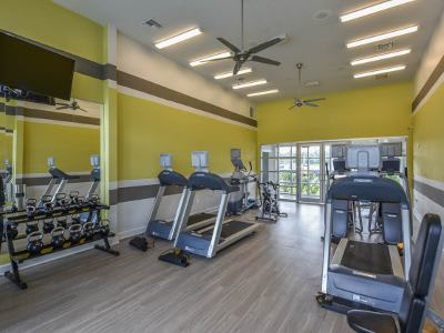Fitness center at Springs at Juban Crossing in Denham Springs