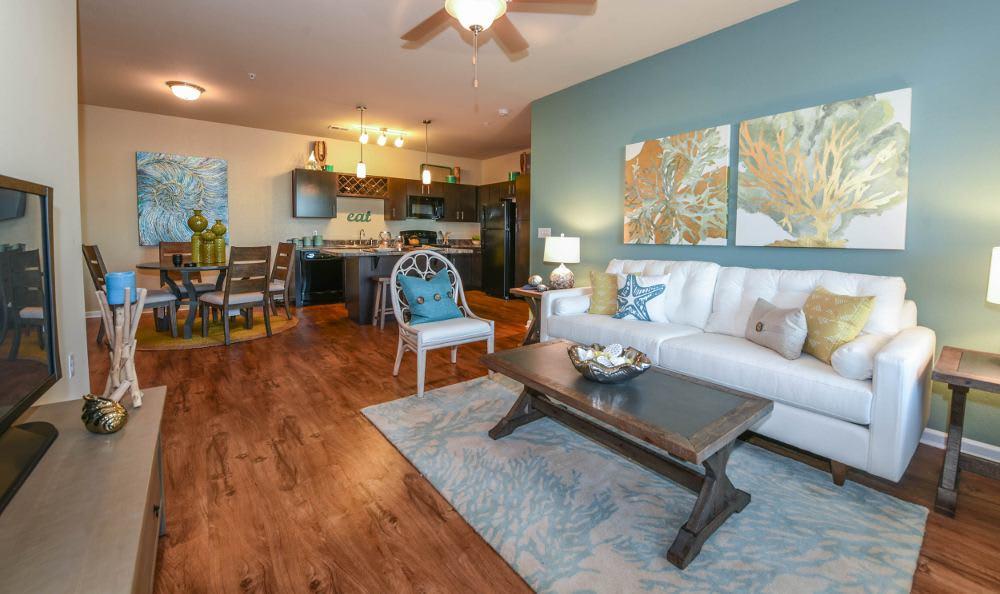 Living room at Springs at Juban Crossing in Denham Springs