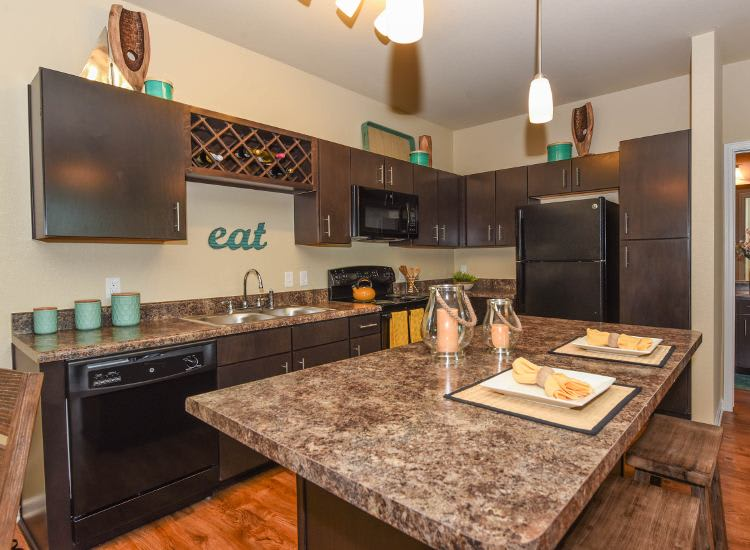 Updated kitchen at Springs at Knapp's Crossing in Grand Rapids