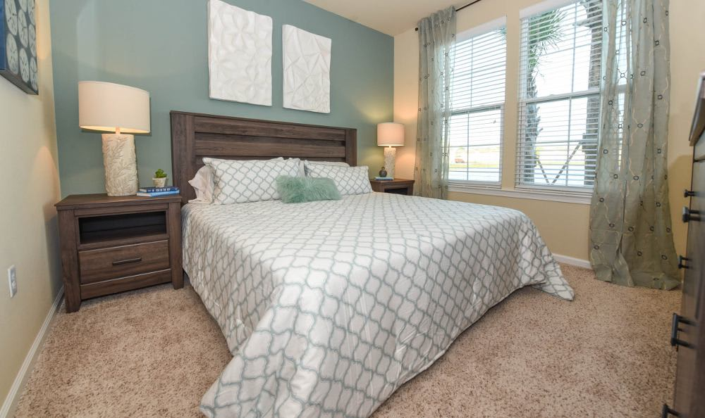 Well decorated bedroom at Springs at Knapp's Crossing