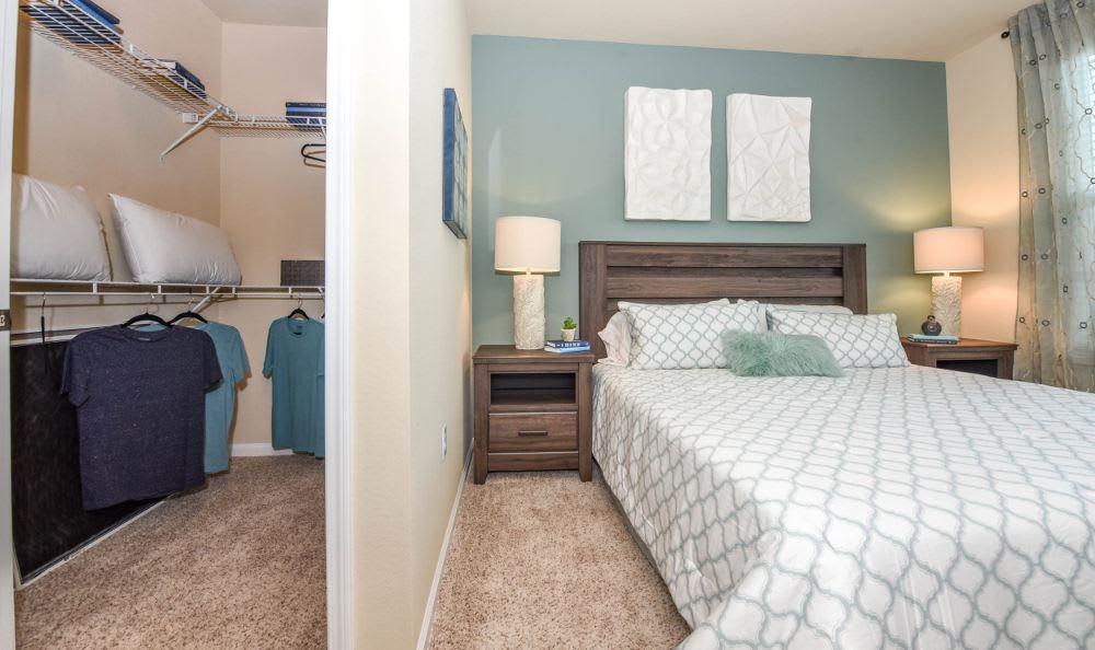 Bedroom with walk-in closet at Springs at South Elgin in South Elgin