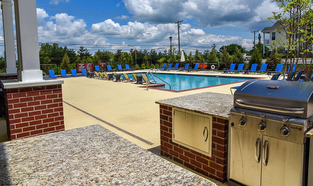 Springs at Sun Prairie pool-side grill
