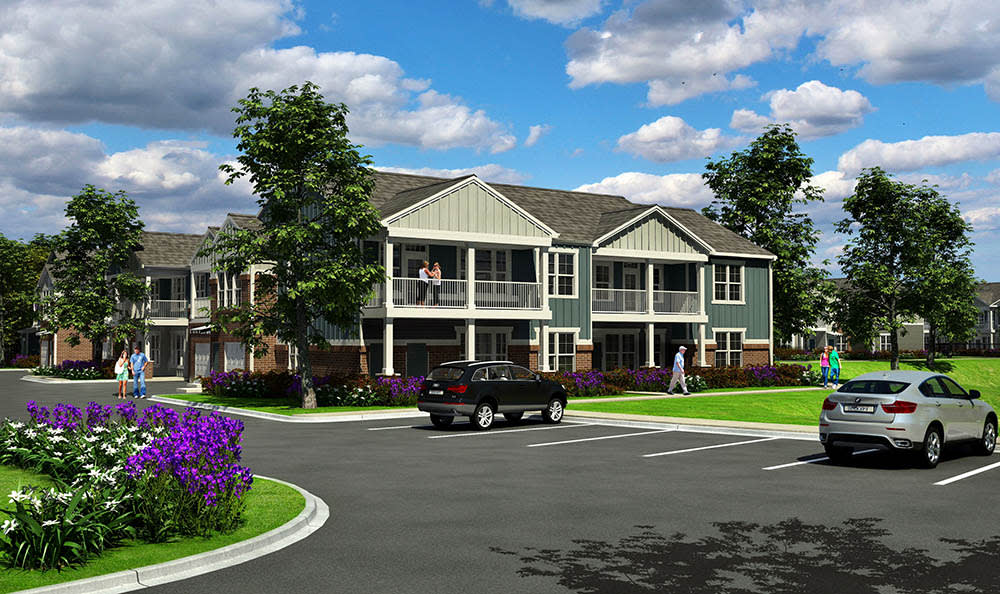 Exterior Rendering At Springs at Canterfield In West Dundee