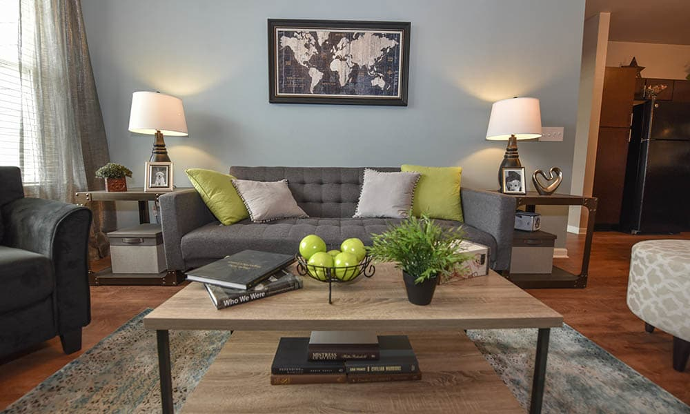 Nicely Decorated Living Room at Springs at Eagle Bend in Aurora, CO