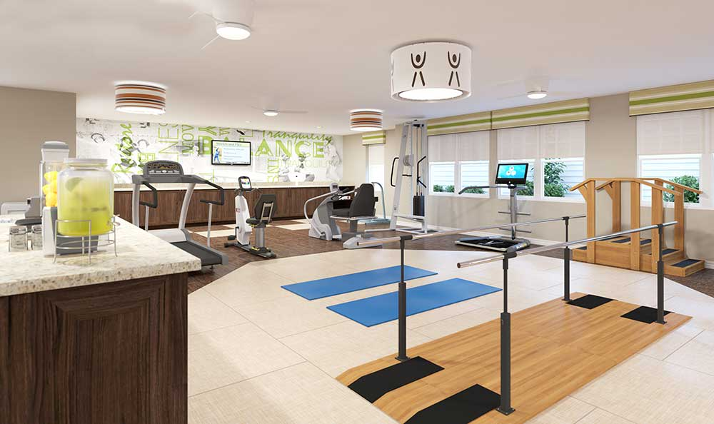 Alternative view of the fitness center at Arcadia Senior Living Bowling Green