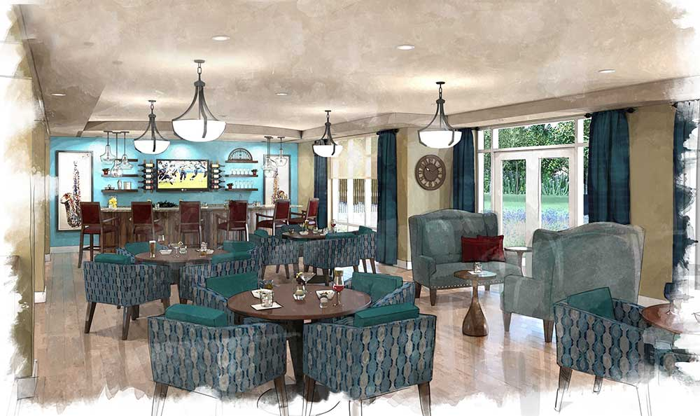 The lounge at Arcadia Senior Living Clarksville