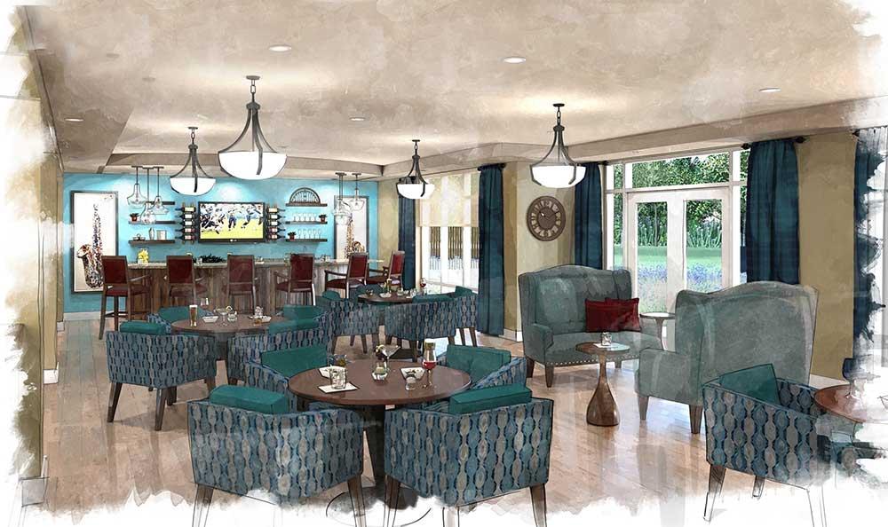 The lounge at Arcadia Senior Living Bowling Green
