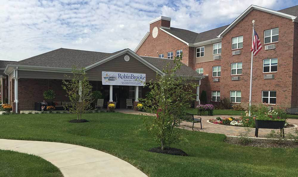 Entrance at RobinBrooke Senior Living