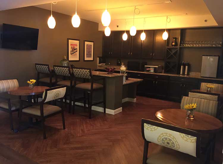 A cute cafe for residents at RobinBrooke Senior Living