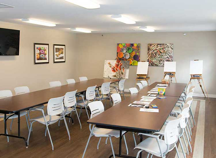 An art studio is a fun and creative addition to RobinBrooke Senior Living