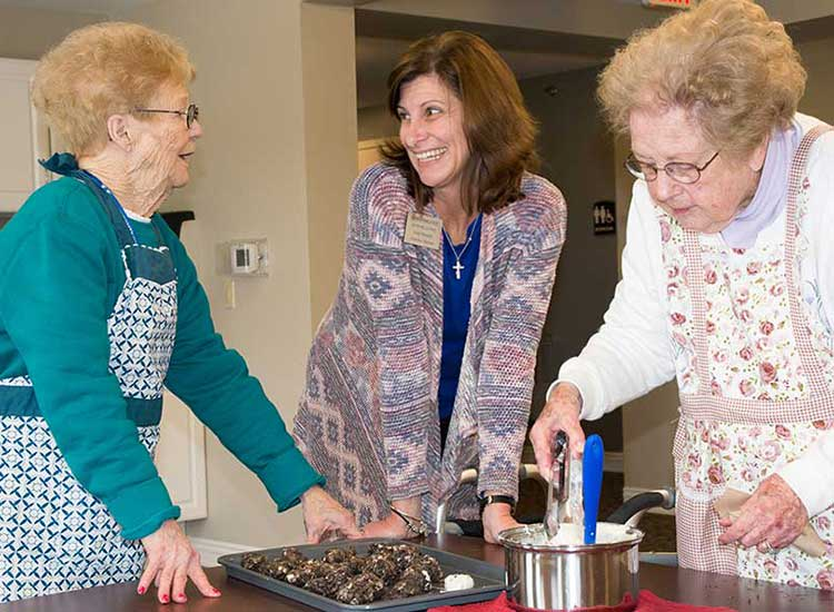 Cooking classes are so exciting at RobinBrooke Senior Living