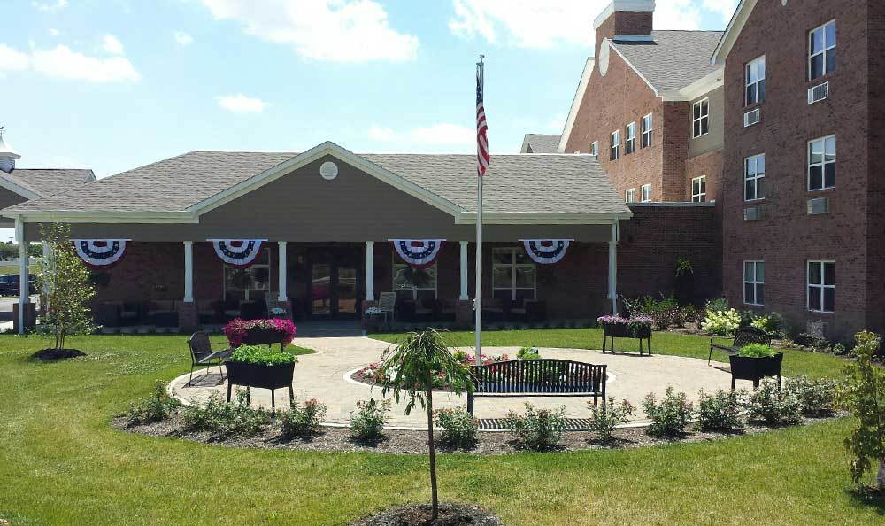 RobinBrooke Senior Living decorated for Independence Day!