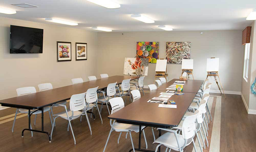 The art room is where some activities take place at RobinBrooke Senior Living