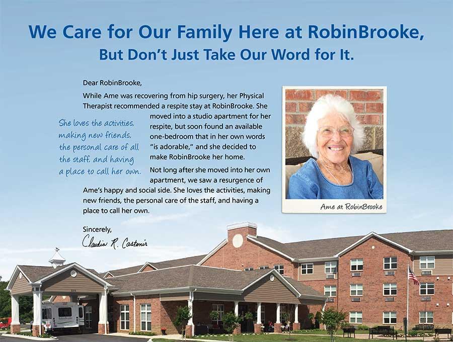 RobinBrooke Senior Living testimonial