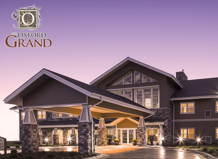 Gorgeous facade at The Oxford Grand Assisted Living & Memory Care