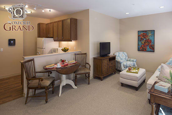 Your own private oasis at The Oxford Grand Assisted Living & Memory Care