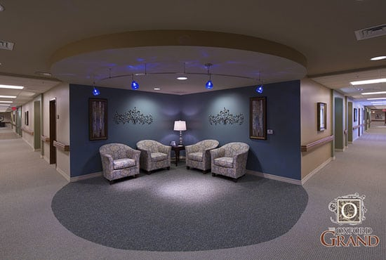 The Oxford Grand Assisted Living & Memory Care feels modern and wondrous