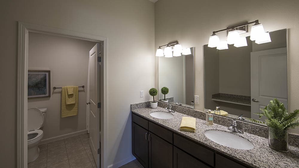 Bathroom at Oxford Villa Active Senior Apartments