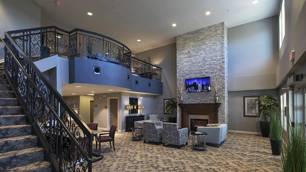 Phenomenal foyer at Oxford Villa Active Senior Apartments