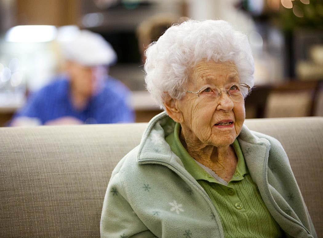 Memory care resident at Oxford Glen Memory Care at Owasso