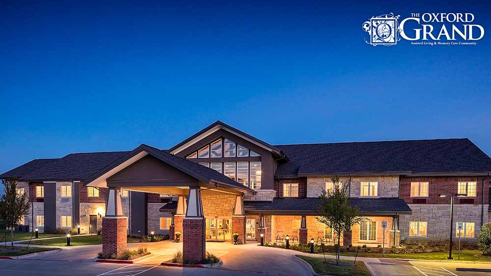Exterior of The Oxford Grand Assisted Living & Memory Care in Kansas City, MO