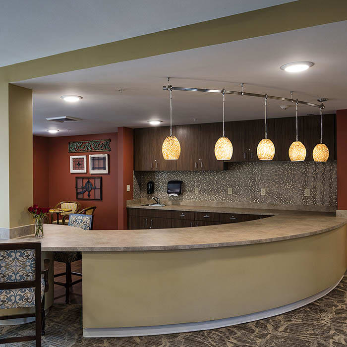 Coffee bar at The Oxford Grand Assisted Living & Memory Care